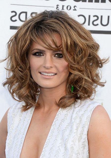 Curly-Hairstyle-With-Bangs New Short to Medium Hairstyles with Bangs