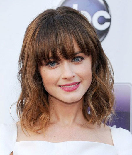 Cute-Hairstyle-With-Bangs New Short to Medium Hairstyles with Bangs