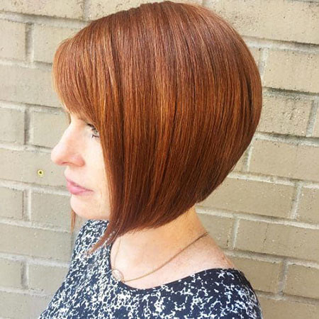 Deep-Reddish-Brown-Straight-Hair Chic Short Haircuts with Bangs