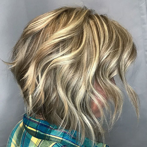 Dimensional-Blonde Best Short Hairstyles for Women 2019