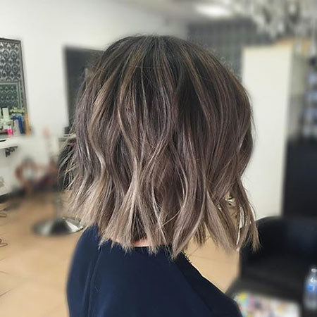 Elegant-Mild-Brown-Ombre Amazing Short Ombre Hairstyles