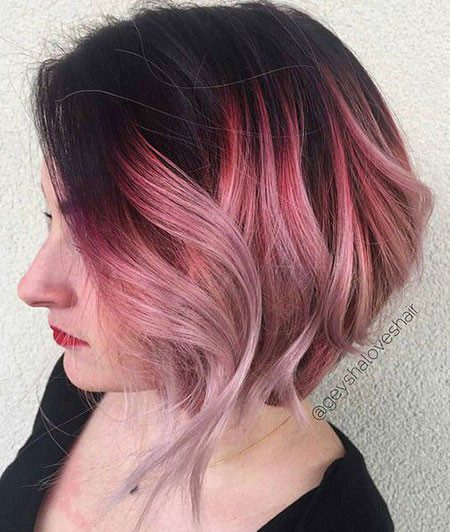 Fabulous-Pink-Ombre Amazing Short Ombre Hairstyles