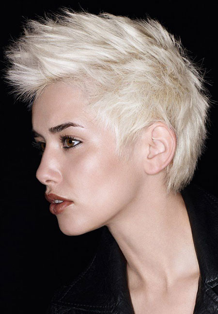 Front-Spike-Boy-Cut Best Short White Blonde Hair