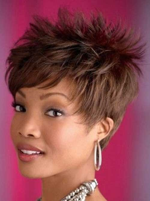 Great-Spiky-Short-Haircut-for-Black-Women Spiky Short Haircuts