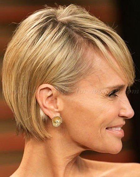 Grey-Fine-Hair- Short Hairstyles for Women Over 50
