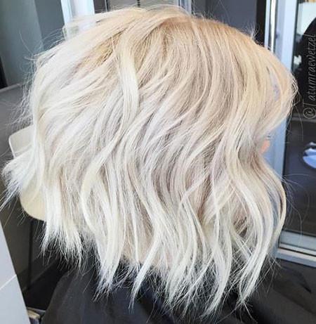 Ice-Blonde-Hair Short Platinum Blonde Hairstyles