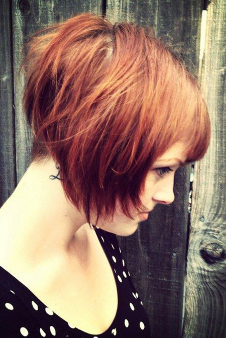 Layered-Cut Short Trendy Hairstyles