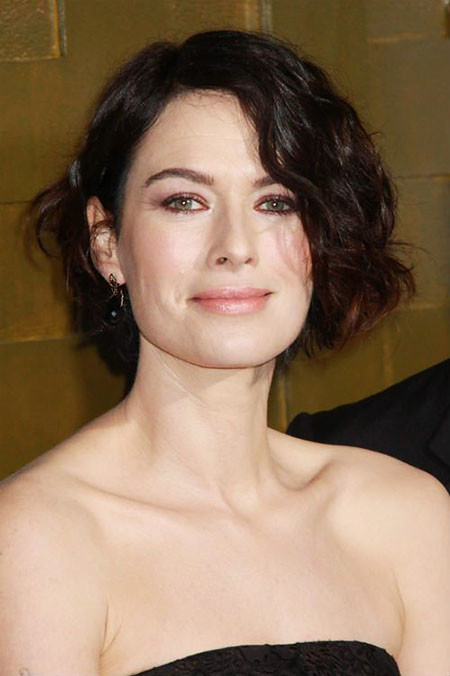 Lena-Headey-Short-Haircut-365 Short Hairstyles for Wavy Hair
