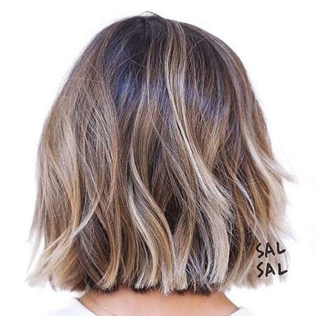 Light-Brown-Balayage-Bob Amazing Short Ombre Hairstyles
