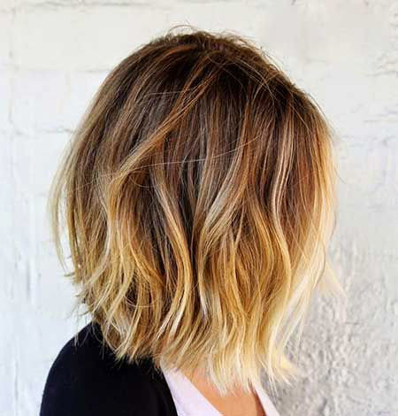 Light-Brown-Side-View Amazing Short Ombre Hairstyles