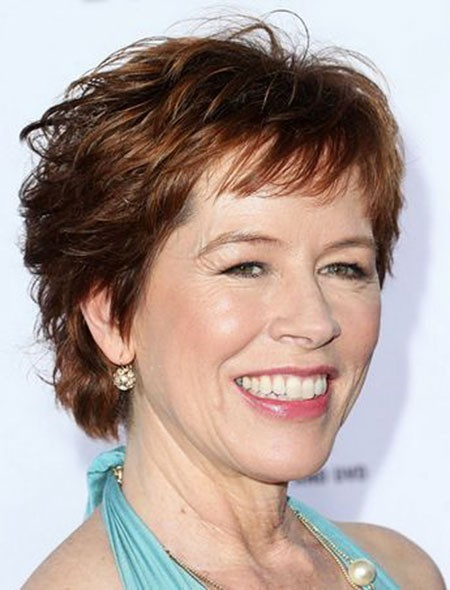 Light-Copper-Hair Short Hairstyles for Women Over 50