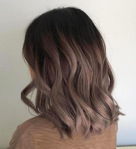 Lob-Choppy-Layers Amazing Short Ombre Hairstyles