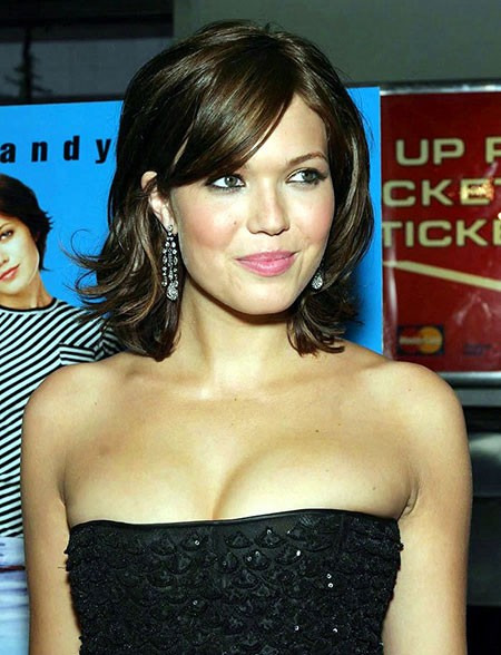 Mandy-Moore-Short-Hair Short Hairstyles for Oblong Faces