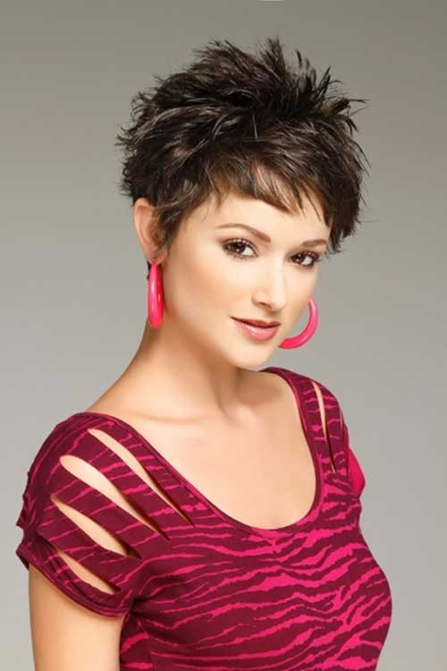 Perfect-Thick-Dark-Pixie-Haircut Spiky Short Haircuts
