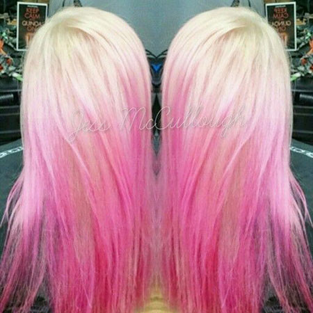 Pink-Hair Blonde And Pink Ombre Hair