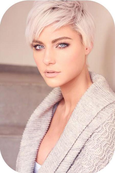Pixie-Cut-for-Rectangular-Face Best Short White Blonde Hair