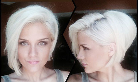 Sassy-Side-parted-Hait-for-Thick-hair Best Short White Blonde Hair