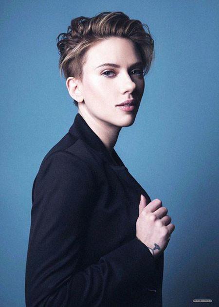 Short-Hairstyle Best Scarlett Johansson Short Hair