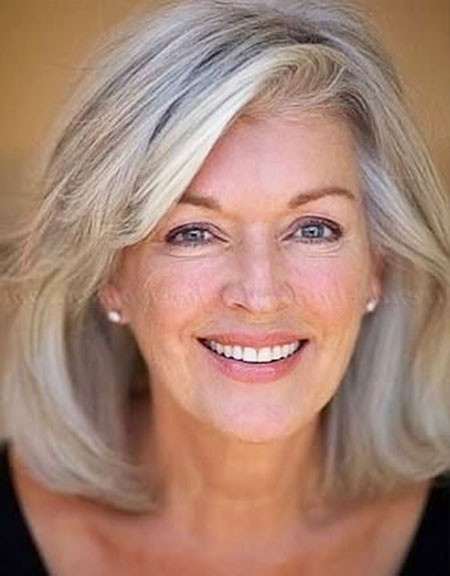 Shoulder-Length-Bob Short Hairstyles for Women Over 50