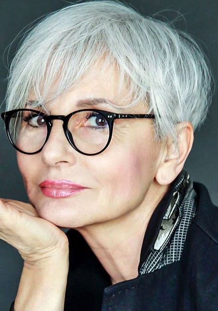 Silver-Hair-for-Women-Over-50 Short Hairstyles for Women Over 50