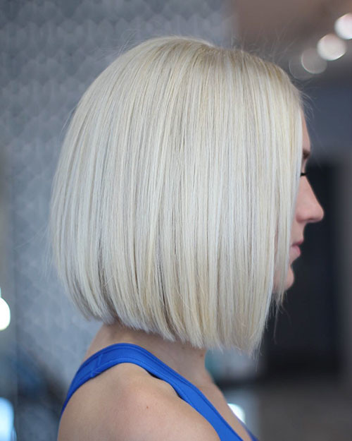 Sleek-Bob-Hair Best Short Hairstyles for Women 2019