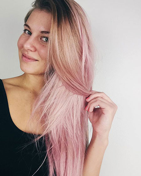 Soft-Pink-Ombre Blonde And Pink Ombre Hair