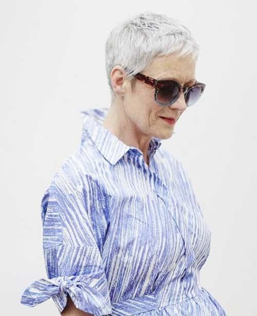 Trendy-Older-Women-Pixie-Style Short Pixie Hairstyles for Older Women