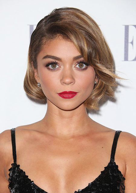 Twisted-Long-Front-Bangs Trendy Short Haircuts for Women
