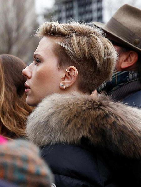 Undercut-Short-Hair Best Scarlett Johansson Short Hair