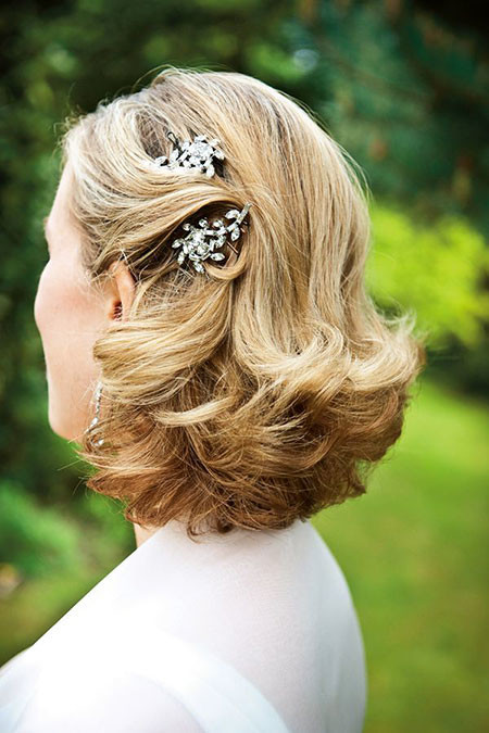 14-Wedding-Hair-Clips-for-Short-Hair-604 Bridal Hairstyles for Short Haircut