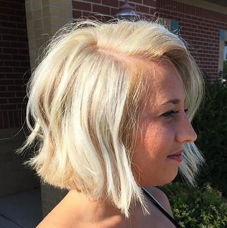 16-Blunt-Cut-Blonde-Bob-526 Best Bob Hairstyles for Women 2019