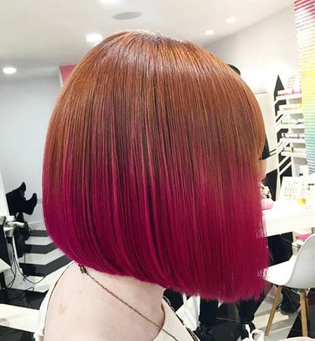 17-Ginger-and-Pink-Hair-492 Short Ombre Hairstyles