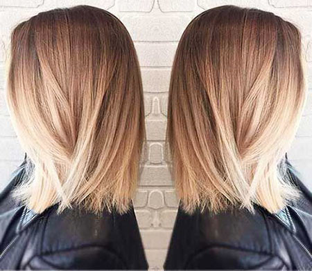 24-Balayage-Short-Hair-Straight-499 Short Ombre Hairstyles