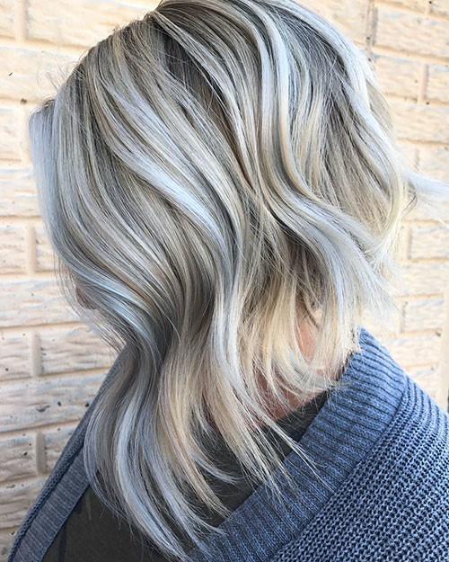 Bleach-Blonde-Hair Best Short Hairstyles for Girls 2019