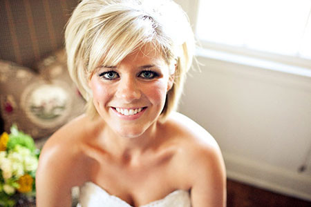 Bridal-Simple-Hair Bridal Hairstyles for Short Haircut