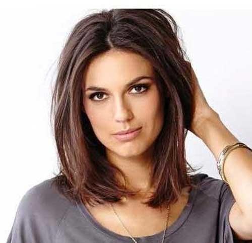 Chic-Short-Medium-Length-Haircut-for-Straight-Hair Short Medium Length Haircuts