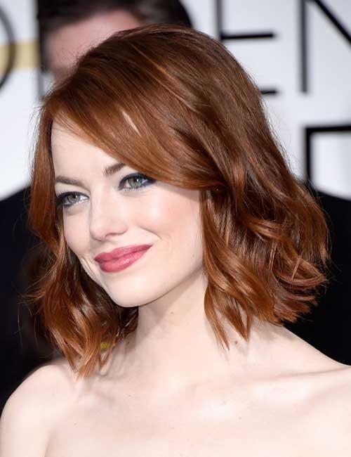 Cute-Short-Medium-Length-Haircut-with-Wavy-Ends Short Medium Length Haircuts