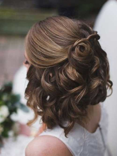 Half-Up-Style Most Beautiful Short Hairstyles for Weddings