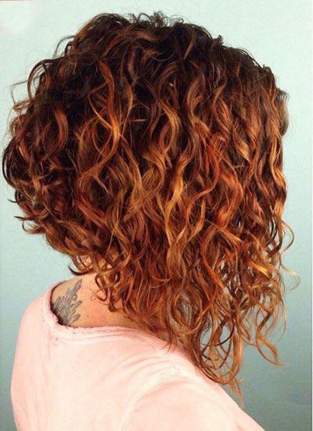 Inverted-Curly-Bob Short Curly Hairstyles for Women