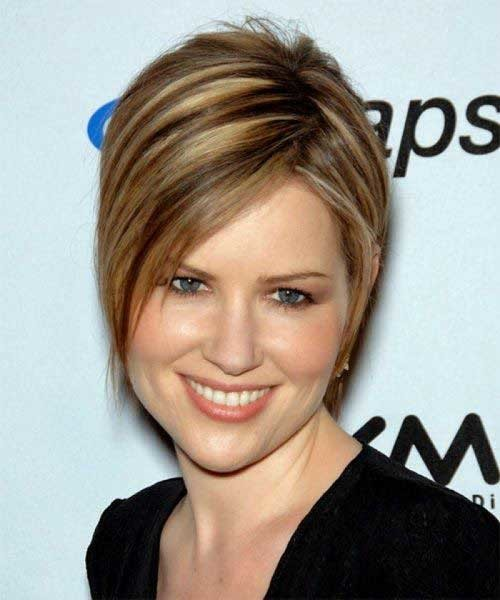 Inverted-Short-Haircut Most Preferred Short Haircuts for Classy Ladies