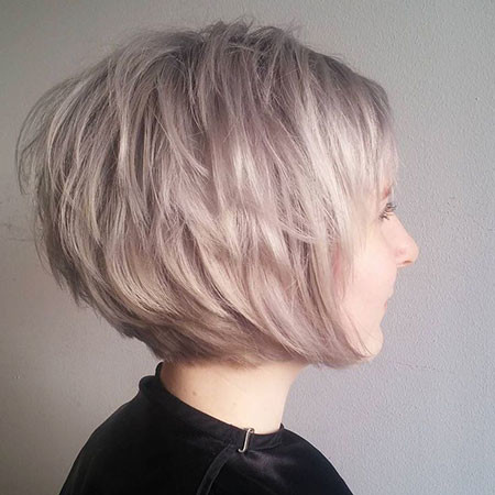 Layered-Edgy-Bob Short Edgy Hairstyles