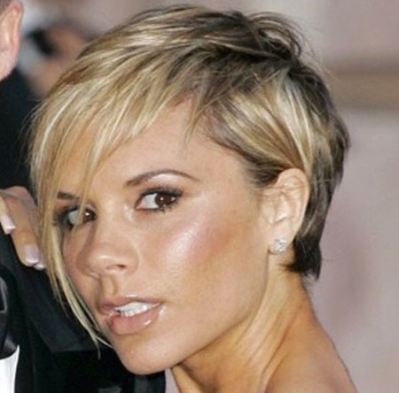 Long-Side-Bangs Victoria Beckham Short Hair