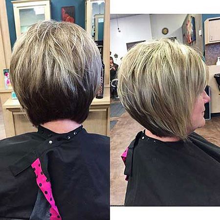Modern-Bob-Cut Short Hairstyles for Women Over 50