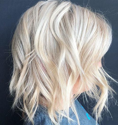 Platinum-Blonde-Hair Best Short Hairstyles for Girls 2019