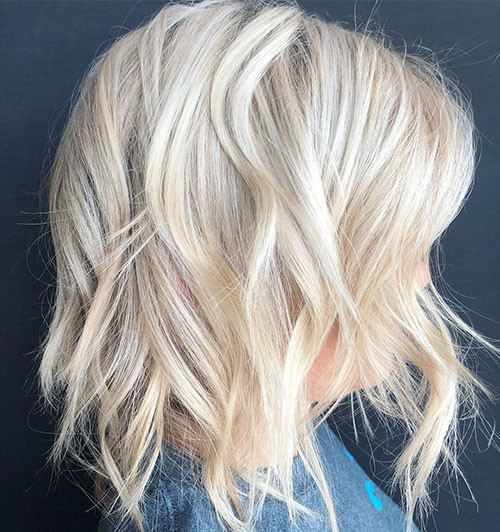 Platinum-Blonde-Hair Best Short Hairstyles for Girls 2019