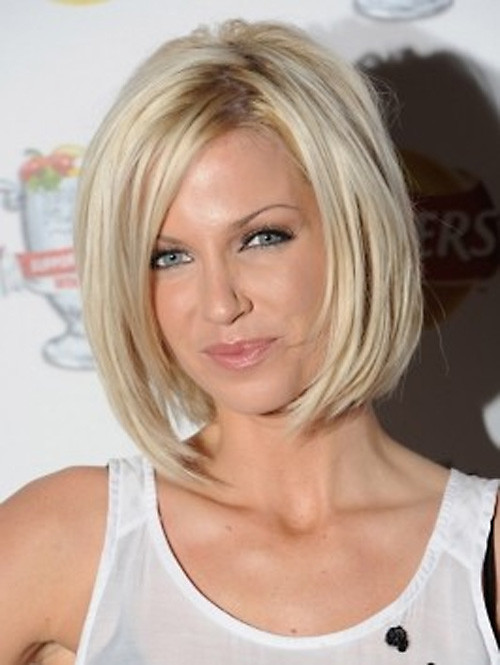 Sarah-Harding-Angled-Bob-Haircut Very Short Bob Haircuts 2019