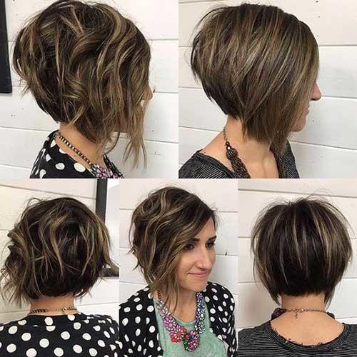 Short-Stacked-Bob-Hairstyle Really Trending Short Stacked Bob Ideas