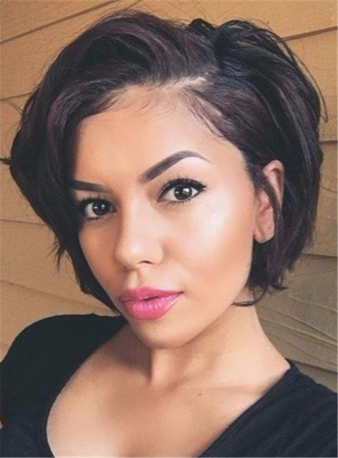 Side-Swept-Bob-Hairstyle-for-Black-Women Short Bob Hairstyles for Black Women
