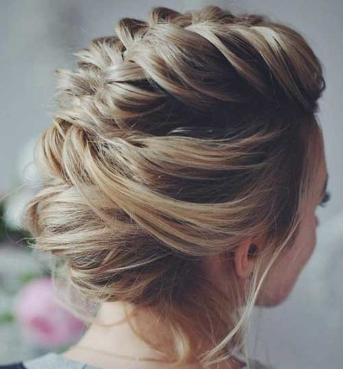 Up-Do-Hair-Style Most Beautiful Short Hairstyles for Weddings