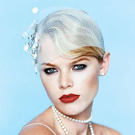 Vintage-Pixie-Style Bridal Hairstyles for Short Haircut